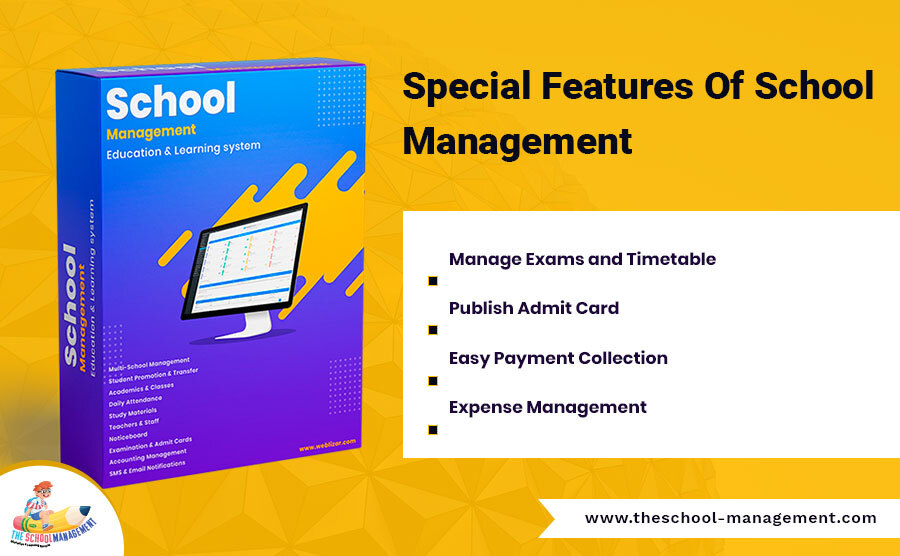 Special Feature Of school Management